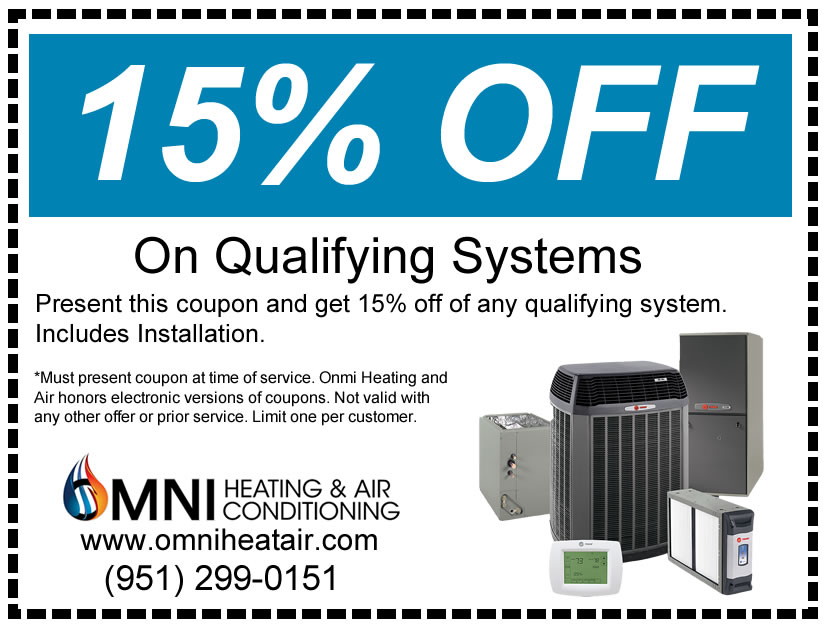 Get 15% off On Qualifying System Installations with this coupon
