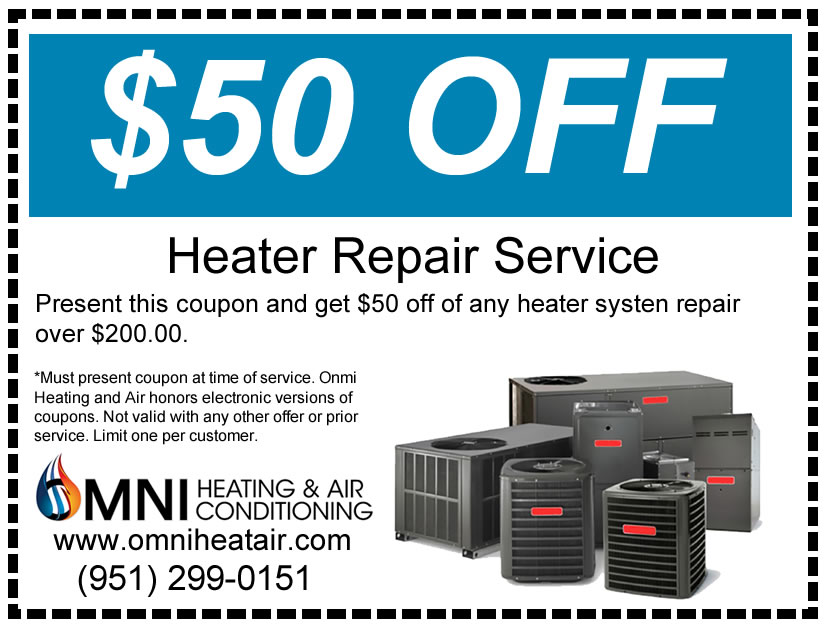 Get $50 off a Heater Repair Service with this coupon