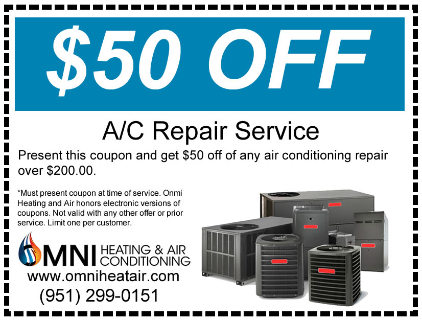 Get $50 off an AC Repair Service with this coupon